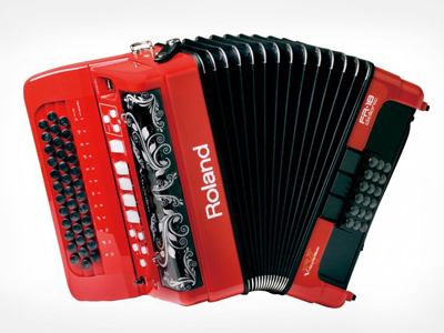 Roland FR-18 D RD diatonic V accordion - Acordeón virtual diatónico